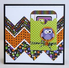 Doodlebug Halloween Parade Owl Card by Mendi Yoshikawa - Scrapbook.com