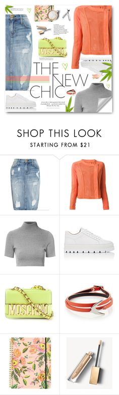 """""""***"""" by gordayagerda ❤ liked on Polyvore featuring Current/Elliott, Pinko, Glamorous, MM6 Maison Margiela, Moschino, McQ by Alexander McQueen, Lauren Ralph Lauren, Rifle Paper Co, Caffé and Burberry"""
