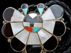 Native American Sterling Silver Bolo Tie Vintage Bennett Inlay Turquoise Coral | eBay