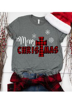 Merry Christmas t shirt is Made To Order, one by one printed so we can control the quality.We use newest DTG Technology to print on to T-Shirt. Christmas T Shirt Design, Christmas Tee Shirts, Christmas Clothes, Christmas Pajamas, Xmas Pjs, Winter Shirts, Christmas Outfits, Merry Christmas, Plaid Christmas