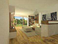 Návrh interiéru spoločenskej časti rodinného domu pre mladý pár z Nitry Divider, Studio, Furniture, Home Decor, Homemade Home Decor, Home Furnishings, Decoration Home, Study, Arredamento