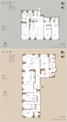 The Tower at Gramercy Square , 215 East St.: Offering some of the highest ceilings and most graciously-scaled layouts within the Gramercy Square collection. Apartment Floor Plans, Dream Apartment, Home Design Plans, Plan Design, Bike Room, Rose House, City Living, Living Room, Bedroom Layouts
