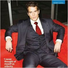 Henry Cavill....quite possibly the hottest man I've ever seen ;-p
