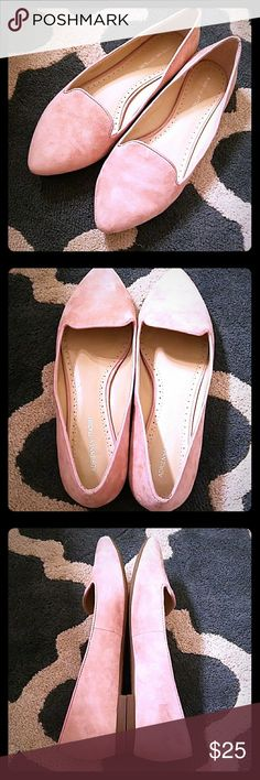 🦄ADRIENNE VITTADINI🦄 BENSON PINK SUEDE FLATS ADRIENNE VITTADINI BENSON PINK SUEDE FLATS. EXCELLENT PRELOVED CONDITION. SMOKE FREE. NO CREASING AT TOES. Adrienne Vittadini Shoes