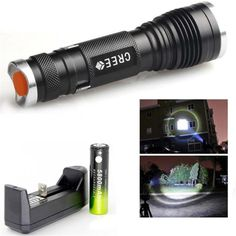 Mini Portable Flashlight Led Torch Zoomable 3 Mode Cree Q5 Led Flashlight Lamp Lanterna 1* 14500 Battery Hunting Camping Light Refreshing And Beneficial To The Eyes Lights & Lighting