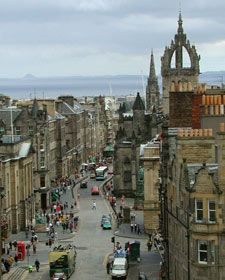 The Royal Mile is a mile long street in Edinburgh that starts with the Castle at the top of the hill.  LOTS of good shopping -