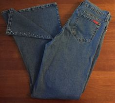 NYDJ Womens Sz 14 not Your Daughters Jeans Jeweled Legs Pockets Stretch Denim | eBay
