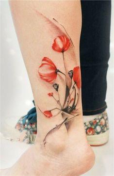 Sensuel fleur tatouage mandala signification fleurs tulipes sur cheville