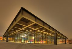 Mies Van Der Rohe's New National Gallery in Berlin! A classic of 20th century architecture