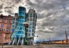 We can dance if we want to! The Dancing House in Prague puts a new twist on modern architecture. Originally named Fred and Ginger, this unique building stands out among the Baroque, Art Nouveau and Gothic architecture Prague is famous for.