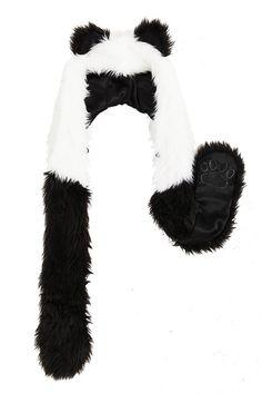 panda scarf hat