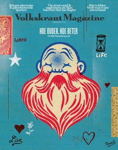 "cover Volkskrant Magazine: ""the older the better""   Artwork for Volkskrant by: Gary Taxali Editor in chief: Corinne van Duin Art Director: Jaap Biemans"