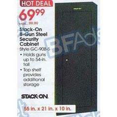 Stack On 8 Gun Steel Security Cabinet At Academy Sports Black Friday   Jon