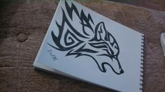 My own tribal wolf drawing