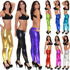 Leggings-Pantalones-brillante-Cuero-optico-Metalico-Aspecto-Mojado-L777-ES