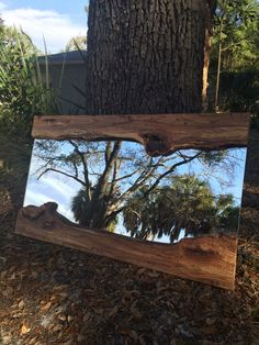 Live Edge Wood Slab River Mirror by FunctionalityDesign on Etsy