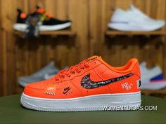 8d4c491fa0ea47 Nike Air Force 1 Low 07 Premium Just Do It Pack Total Orange AF1 AR7719 800  Total Orange Total Orange-Black-White New Year Deals