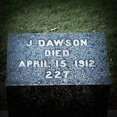 J. Dawson's grave in Halifax.
