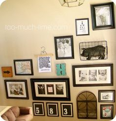 Main Ingredient Monday- Picture Frames/Gallery Walls | Too Much Time On My Hands | Bloglovin'