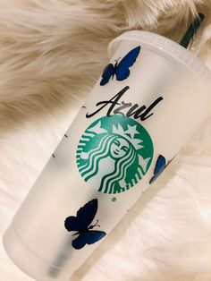 Excited to share this item from my shop: Starbucks tumbler with butterflies Starbucks Bottles, Starbucks Tumbler, Starbucks Drinks, Starbucks Coffee, Hot Coffee, Personalized Starbucks Cup, Custom Starbucks Cup, Personalized Cups, Starbucks Cup Design