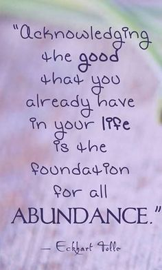 This is secret power of a regular #Gratitude practice. Abundance will come your way when your attention is focus on the abundance you already have! - @SoulBridging