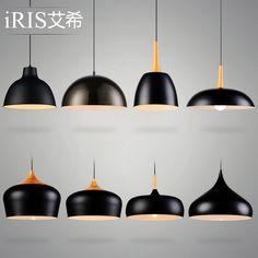 2015 new Creative American restaurant pendant lights bar Nordic iron minimalist bedroom modern dining room pendant lamp