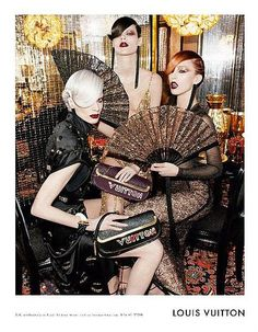 Fashion Photography: Louis Vuitton S/S 2011 : Raquel, Freja, and Kristen by Steven Meisel