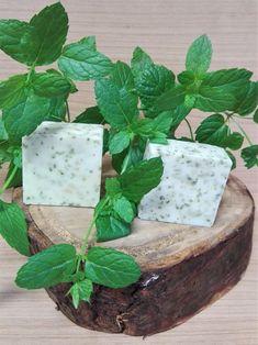 mátové mýdlo s bio oleji nebo kozím mlékem Feta, Dairy, Cheese