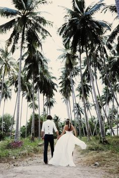 married under the palm trees #theLANEweddings #BulgariResortBaliEscape