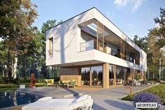 Modern single-family house 8 on Behance Architecture Building Design, Architecture Student, Z Photo, Photo Wall, Modern Family House, Cladding, Bungalow, Gazebo, Villa