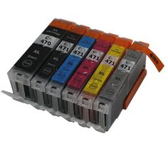 6 color PGI470 CLI471 PGI-470BK CLI-471 compatible ink cartridge full ink for canon PIXMA MG7740  printer