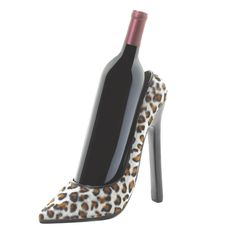 Wild Wine Tasting: Leopard Print Ladies Stiletto Shoe Wine Bottle Holder