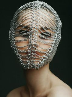 Chain mask by shot by for MUA by Styling by Model Richard Burbridge, Face Jewellery, Jewelry, Mexican Fashion, Masks Art, Fashion Mask, Fashion Brand, Fashion Design, Mode Inspiration