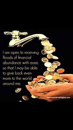 ✿ Abundance Everywhere. Law of Attraction at work. This is THE SECRET ✿ ✿ Attract Abundance in Love, Wealth and Health ✿ Guter Rat, Vision Boarding, Wealth Affirmations, Louise Hay Affirmations, Money Spells, Secret Law Of Attraction, New Energy, Positive Thoughts, Quotes Positive