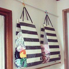 towel holders, cute idea.