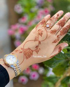 Pretty Henna Designs, Modern Henna Designs, Indian Henna Designs, Floral Henna Designs, Latest Henna Designs, Henna Tattoo Designs Simple, Back Hand Mehndi Designs, Full Hand Mehndi Designs, Mehndi Designs Book