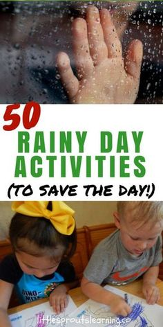 When rain is in the forecast, do you panic a little? A rainy day can spoil your plans, but with these rainy day activities, you can have fun anyway!