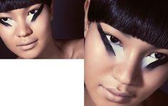 eotique beauty - magazine beauty editorial - black and white - japanese - oriental - maquiagem oriental, maquiagem gráfica preto e branco sombra olhos editorial de beleza revista Lupa
