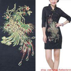 54x29 cm large Lace Applique Colorful Embroidery  by KeKeStore