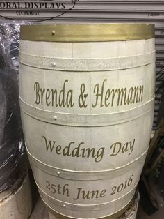 Whiskey Barrels for any occasion By RKD Floral Displays Wedding Flowers, Wedding Day, Whiskey Barrels, Metal Barrel, Outdoor Flowers, Indoor, Display, Floral, Pi Day Wedding