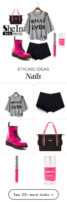 """""""Pink girl"""" by s-sunshine on Polyvore featuring Dr. Martens, claire's and Chantecaille"""