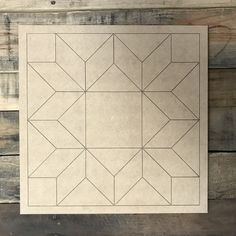 Painted barn quilts - Quilt Pattern 6 DIY, Unfinished Wood Cutout, Paint by Line – Painted barn quilts Barn Quilt Designs, Barn Quilt Patterns, Quilting Designs, Block Patterns, Wooden Cutouts, Wooden Shapes, Painted Barn Quilts, Star Quilt Blocks, Wooden Picture Frames