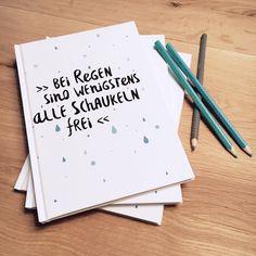 """Weiteres - Notizbuch A5 """"Bei Regen - Schaukeln frei"""" - ein Designerstück von Beiderhase bei DaWanda #notebook #notizbuch #quote #spruch #bilder #bild #geschenk #deko #print #words #positiv #gift #home #wiriting #schreiben #gedanken #thoughts #ideas #kreativ #idee #geschenkidee"""