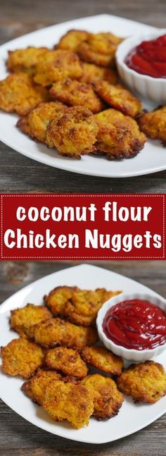 These chicken nuggets are grain-free and gluten-free. They're paleo-friendly and made with coconut flour. The spice blend is delicious!