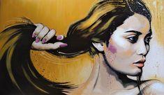 Long hair Original Livien Rózen Art, Painting (600x100 cm) #portrait #painting #art #womenartist #faceportrait #Impressionism #moody #contemporaryart #fineart #livienrozen #buyartonline Acrylic Painting Canvas, Painting Art, Buy Art Online, Art Fair, Impressionism, Contemporary Art, Interview, Fine Art, Long Hair Styles