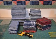 Tips on making a quilt from old jeans.