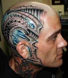 Facial tattoos or face tattoo designs are a modern trend with variety in liking. But these tattoo face styles including the tribal face tattoos and many others are tattoos on face that most of us would actually like. Face Tattoos For Men, Facial Tattoos, Small Hand Tattoos, Hand Tattoos For Guys, Cyborg Tattoo, Biomech Tattoo, Biomechanical Tattoo Design, Free Tattoo Designs, Design Tattoo