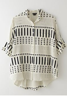 13 Layering Tops That'll Hold Their Own Come Summer #refinery29  http://www.refinery29.com/layering-tops#slide7  Steven Alan Oversized Stand Collar Shirt, $255, available at Steven Alan.