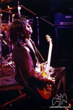 Led Zeppelin continued rehearsals at The Rainbow Theatre, London for their forthcoming European tour, May 1, 980.: