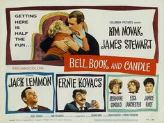Jimmy Stewart, Kim Novak & Jack Lemmon star in supernatural comedy Bell, Book & Candle.